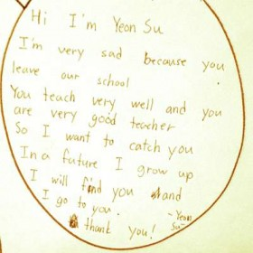 Goodbye message from a student